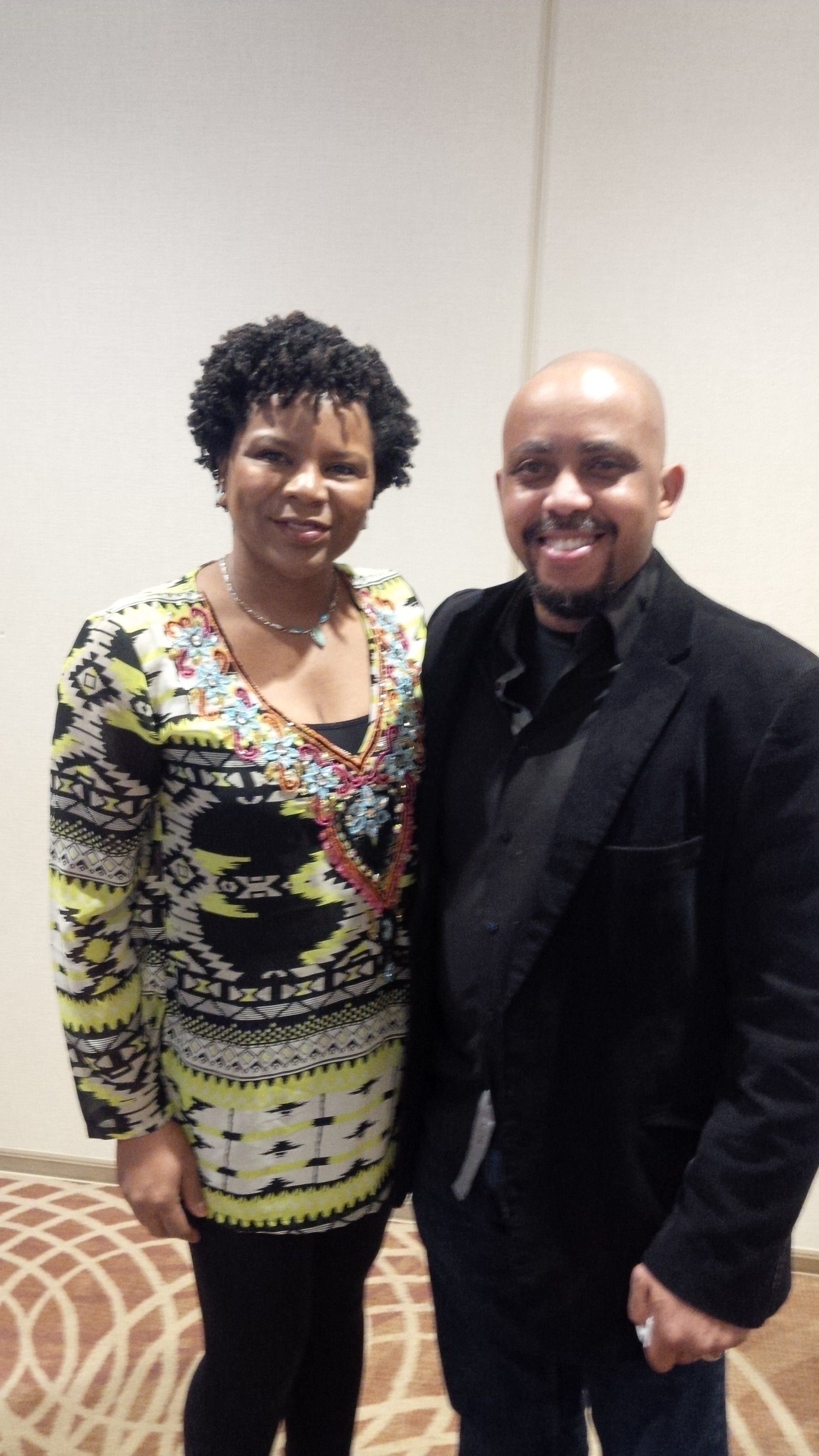 Dwain Wellington spoken word artist with Dian Wright